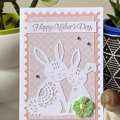 Mother's Day Handmade Card  - Bunny Rabbit