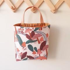 Storage solution, hanging fabric basket, mushroom bag