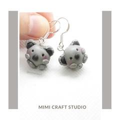 Koala Earrings, Aussie icon, Aussie cute earrings