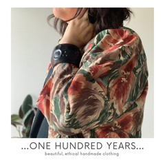 Vintage fabric floral kimono style jacket - one of a kind