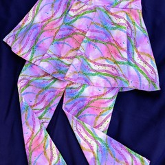 Pink Multi Leggings with Skirt
