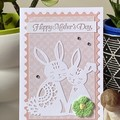 Mother's Day Handmade Card  - Bunny Rabbit