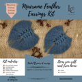 DIY Macrame Feather Earrings Kit (makes 2 pairs)