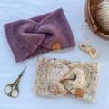 ADULT DOUBLE LAYER EARWARMER - Handdyed %100 Merino Wool