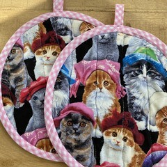 Round Cat Pot Holder