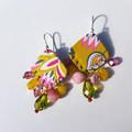 Colourful Chandelier Earrings  Ecofriendly Boho Earrings   Gift for Her 