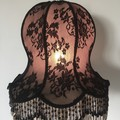 STUNNING BLACK LACE SHADE FOR TABLE LAMP