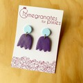 Lale Earrings in Purple and Blue