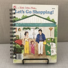 Little Golden Book Upcycled Notebook - Let's Go Shopping