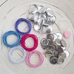 Pack - Self Cover Button Hair Ties (28mm Buttons)