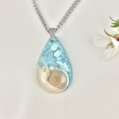 Beachscape Necklace with Wooden Inlay
