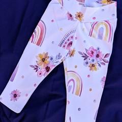 Cream Rainbow Leggings Sizes 00, 1, 3