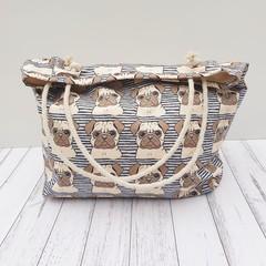 Pug tote bag // Dog lover gift idea