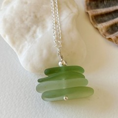 Sea Glass Stack Necklace