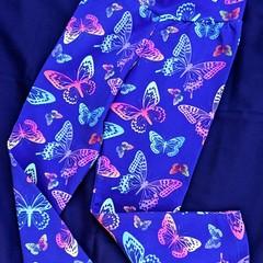 Purple Butterfly Leggings Sizes 2,4