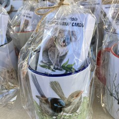 Blue Wren Mug with Memory & Snap Card game - Australian Wildlife