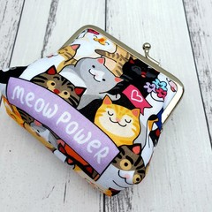 Cat lover coin purse