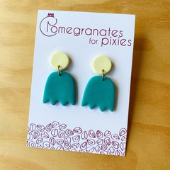 Lale Earrings in Green  and Yellow