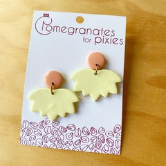 Lotus Earrings in Yellow and Peach