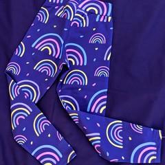Blue Rainbow Leggings Sizes 5, 6, 7, 10