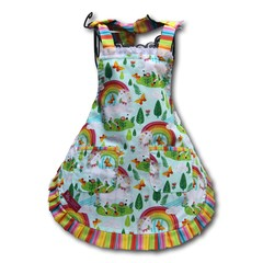 Over the Rainbow girls apron