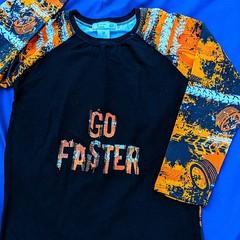 Go Faster Long Sleeve T-Shirt - Sizes 6, 7