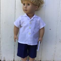 School uniform Boy Doll 45cm/18 inch Doll