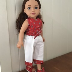 Nautical top/pants/shoes set for 45cm/18 inch doll, dolls clothes
