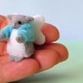 Micro Felt Angel Mouse, Felt Mouse, Miniature Mouse, dollhouse, fairy mouse