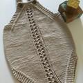 Baby Romper Hand Knitted in Pure Cotton