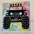 Handmade Card - All Occasion Card  - Four Wheel Drive Off Road Adventures Card