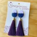 Sarila Statement Tassel Earrings in Winter Pastels