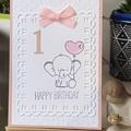Girl Age Birthday Card - Elephant, 1st 2nd 3rd 4th