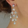 Yellow statement Chandelier Earrings Bridal Jewelry Lemon Swarovski crystal