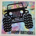 Handmade Card - Happy Birthday Card  - Four Wheel Drive Off Road Adventures Card