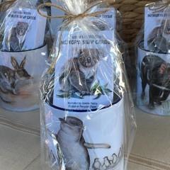 Penguin Mug with Memory & Snap Cards Australian Wildlife set of 20 matched pairs