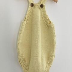 Cotton Hand Knit Baby Romper