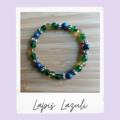 Lapis Lazuli Beaded Gemstone Stretch Bracelet
