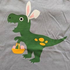 Easter T Rex T-Shirt Size 2