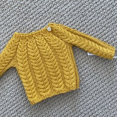 Yellow cable jumper - size 0-3 month - wool cashmere blend