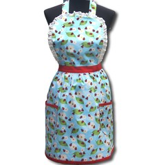 Lucky Ladybirds ladies traditional apron