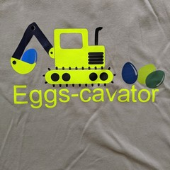 Eggs-cavator Easter T-Shirt Size 2