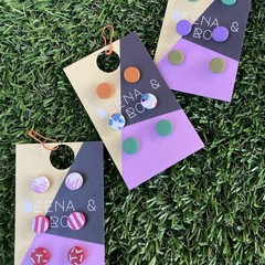 Polymer clay stud triple pack ( 3 choices )