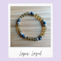 Lapis Lazuli Beaded Gemstone Stretch Bracelet