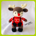 Bertie the Reindeer Crochet Christmas Toy