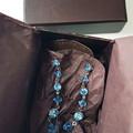 Red Swarovski Crystal Drop Earrings Bridesmaid Bride Wedding Prom Formal Special