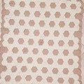 Hexagon white and beige crochet baby blanket