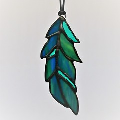 Stained Glass Feather Suncatcher 14cmx5cm