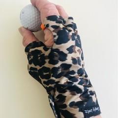 Sunglove: golf, lycra, sun protection, palm free, fingerless, free post