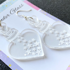 Love Potion Bottles with Stars - Acrylic Earrings